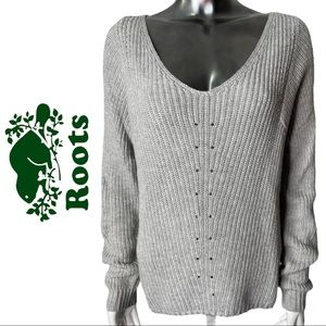 Roots Sweater Cashmere Wool Blend Round Neck